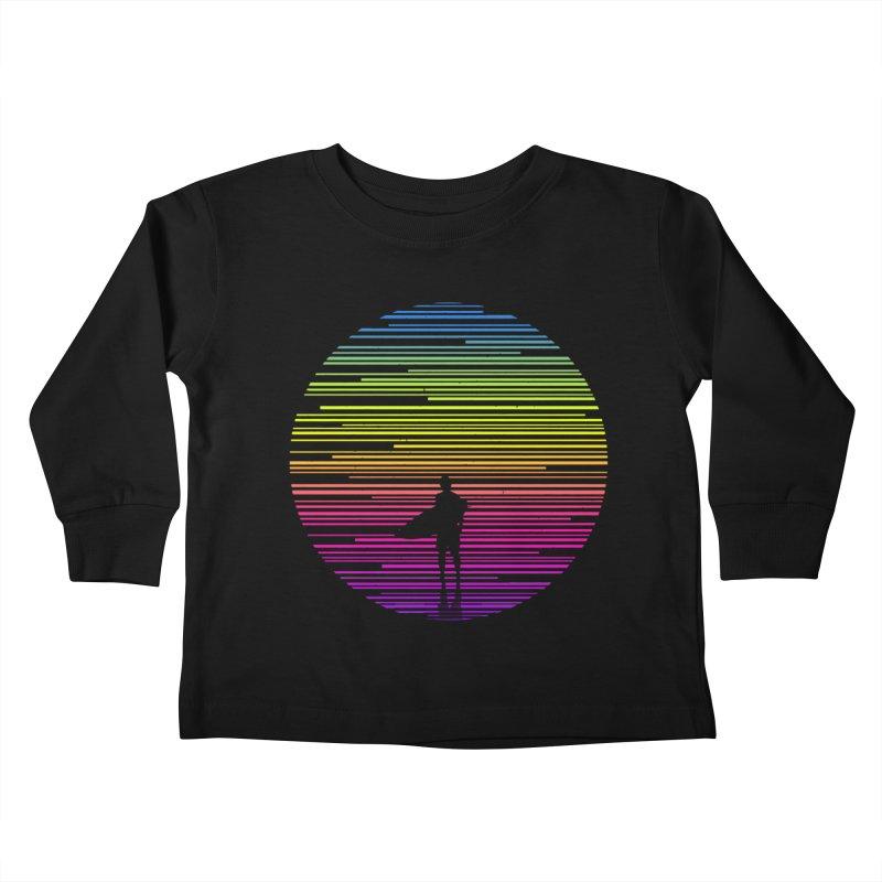 The surfer Kids Toddler Longsleeve T-Shirt by clingcling's artist shop