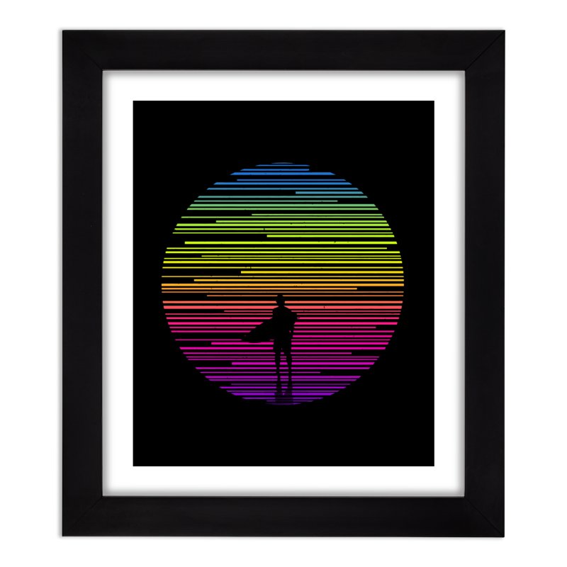 The surfer Home Framed Fine Art Print by clingcling's artist shop