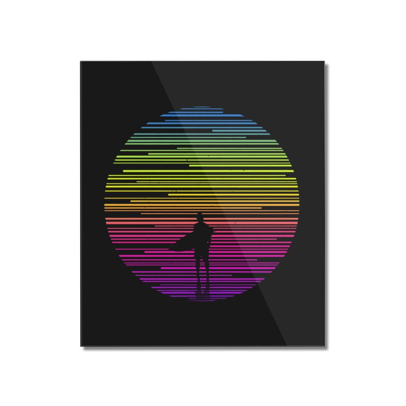 The surfer Home Mounted Acrylic Print by clingcling's artist shop