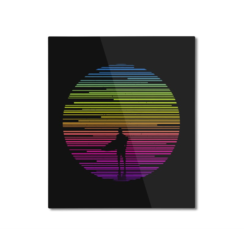 The surfer Home Mounted Aluminum Print by clingcling's artist shop