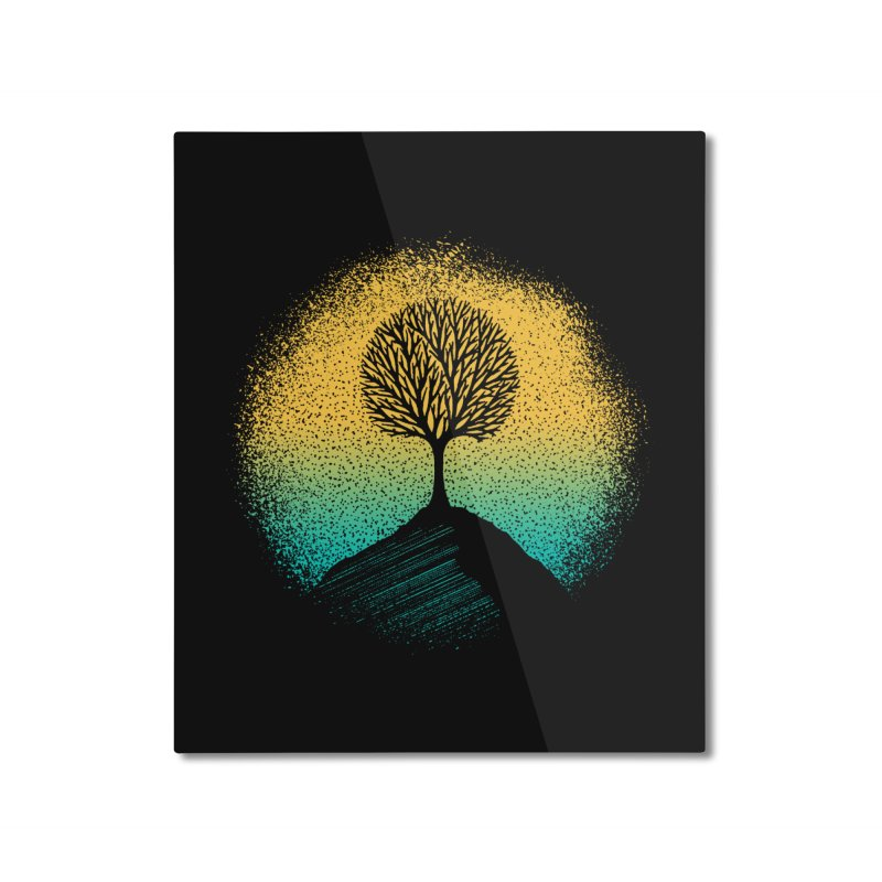 Tree of life Home Mounted Aluminum Print by clingcling's artist shop