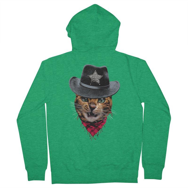 Sheriff house cat Women's Zip-Up Hoody by clingcling's artist shop