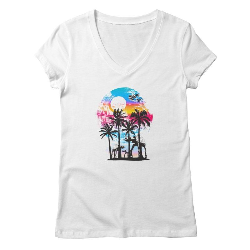 Tropical Empire Women's V-Neck by clingcling's artist shop