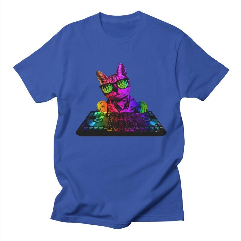 Cool Cat Dj Women's Unisex T-Shirt by clingcling's Artist Shop