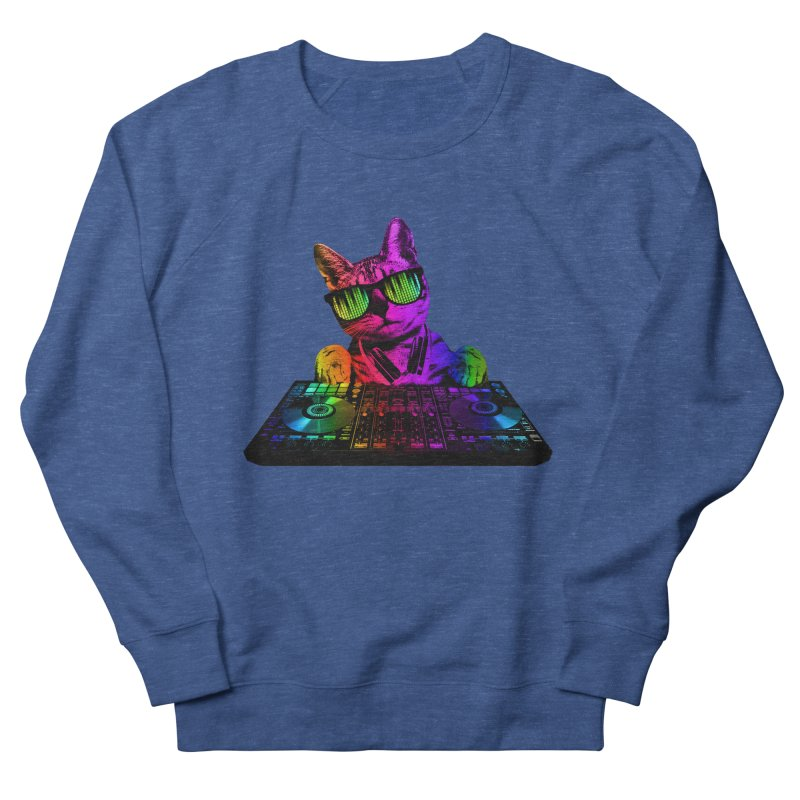 Cool Cat Dj Men's Sweatshirt by clingcling's Artist Shop
