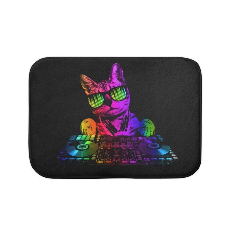 Cool Cat Dj Home Bath Mat by clingcling's Artist Shop