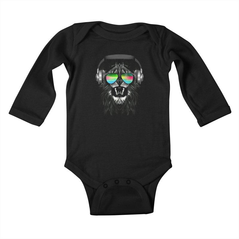 Music Jungle Kids Baby Longsleeve Bodysuit by clingcling's Artist Shop