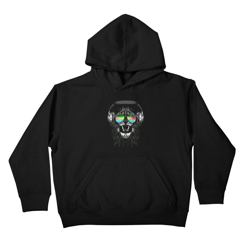 Music Jungle Kids Pullover Hoody by clingcling's Artist Shop