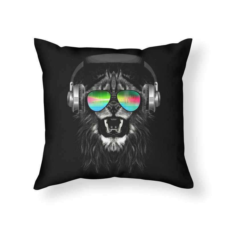 Music Jungle Home Throw Pillow by clingcling's Artist Shop