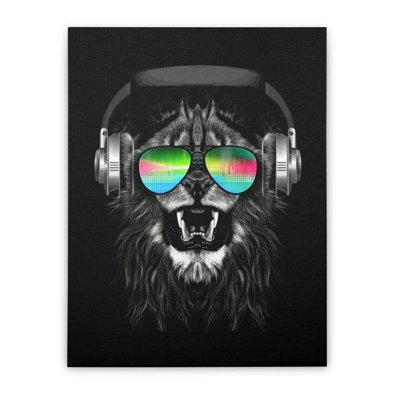 Music Jungle Home Stretched Canvas by clingcling's Artist Shop