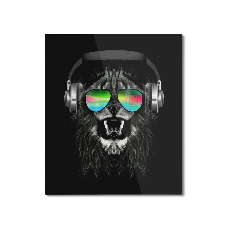 Music Jungle Home Mounted Aluminum Print by clingcling's Artist Shop