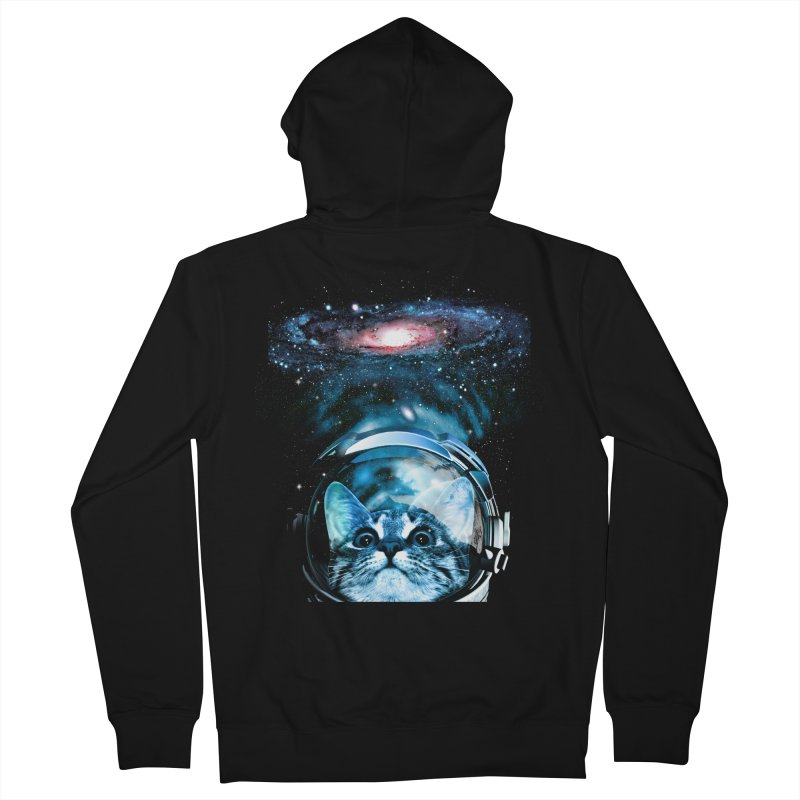 Cosmos Cat V2 Men's Zip-Up Hoody by clingcling's Artist Shop