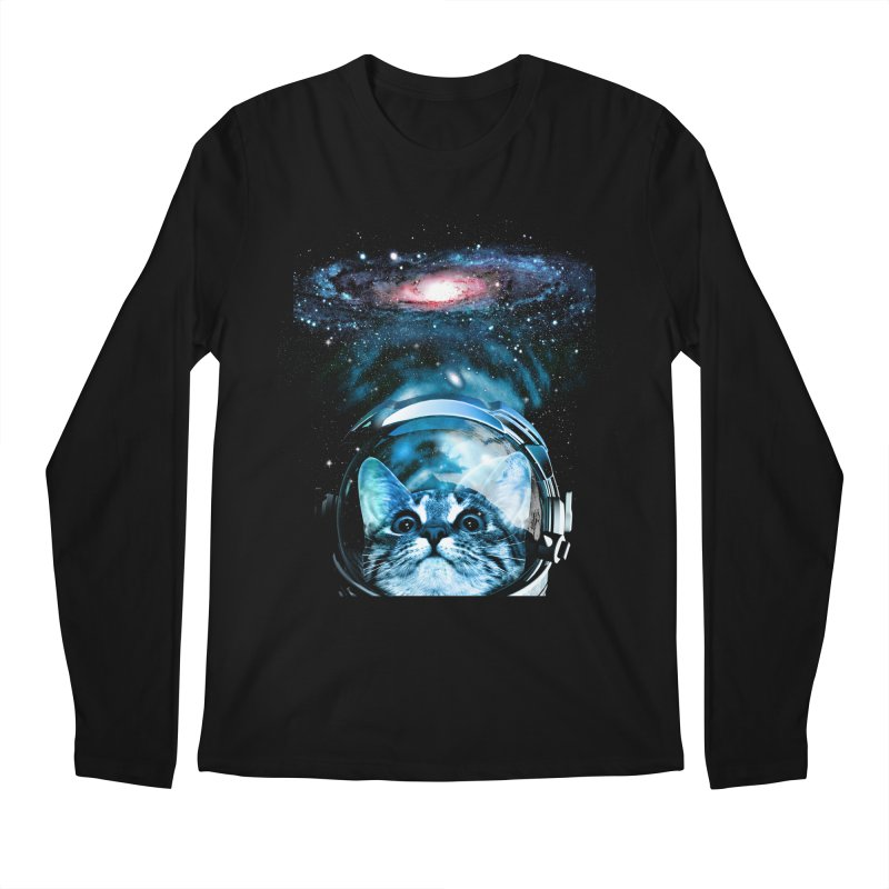 Cosmos Cat V2 Men's Longsleeve T-Shirt by clingcling's Artist Shop