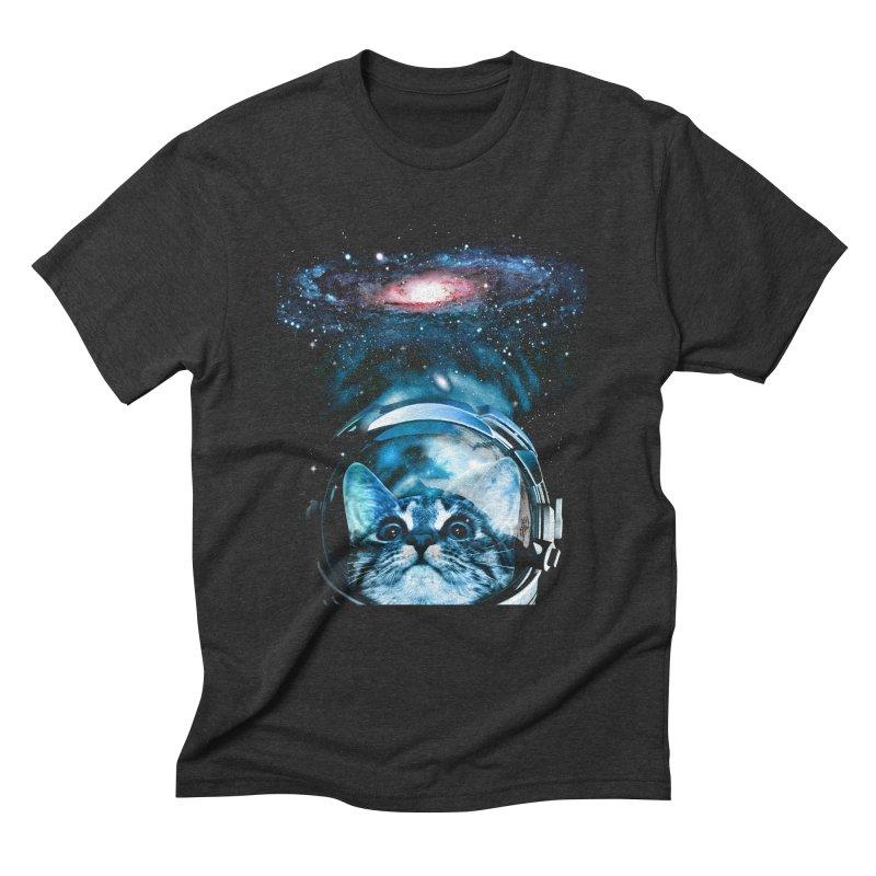 Cosmos Cat V2 Men's Triblend T-Shirt by clingcling's Artist Shop