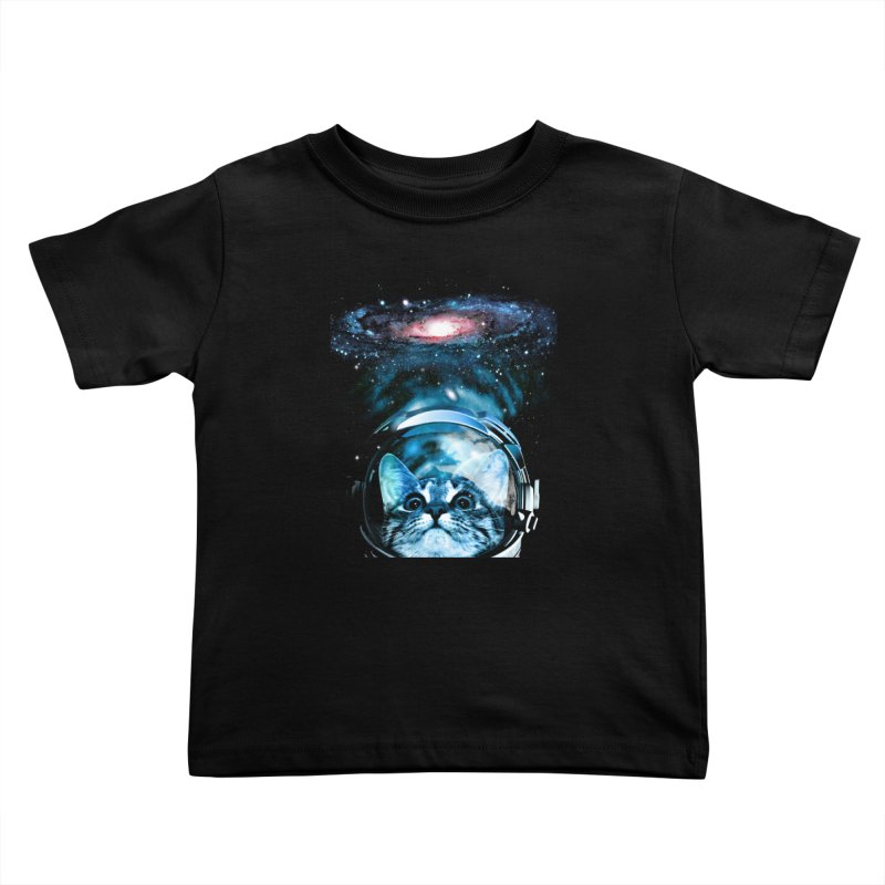 Cosmos Cat V2 Kids Toddler T-Shirt by clingcling's Artist Shop