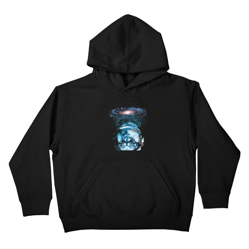 Cosmos Cat V2 Kids Pullover Hoody by clingcling's Artist Shop