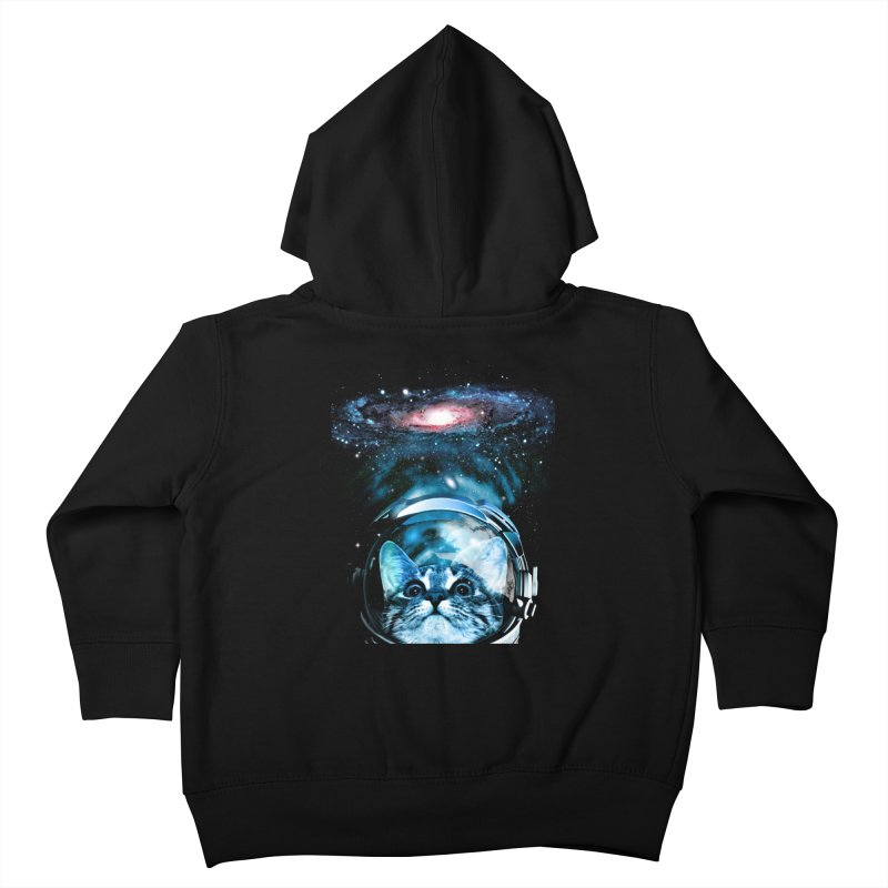 Cosmos Cat V2 Kids Toddler Zip-Up Hoody by clingcling's Artist Shop