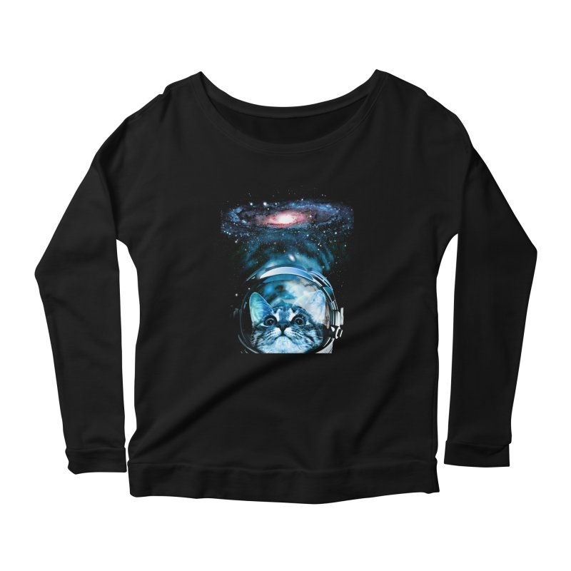 Cosmos Cat V2 Women's Longsleeve Scoopneck  by clingcling's Artist Shop