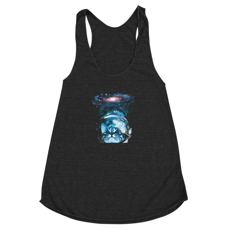 Cosmos Cat V2 Women's Racerback Triblend Tank by clingcling's Artist Shop