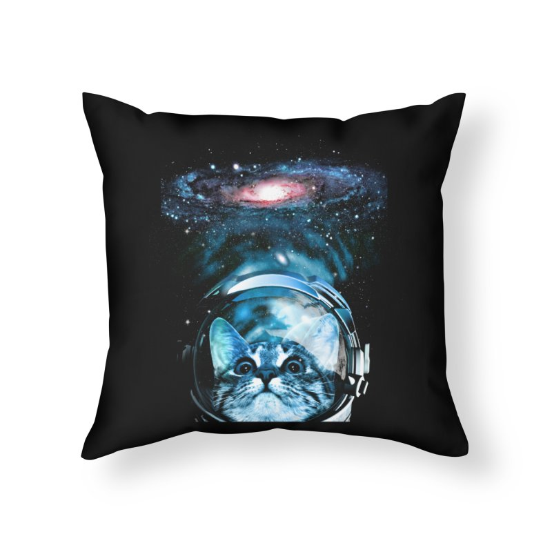 Cosmos Cat V2 Home Throw Pillow by clingcling's Artist Shop