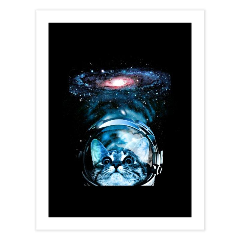 Cosmos Cat V2 Home Fine Art Print by clingcling's Artist Shop