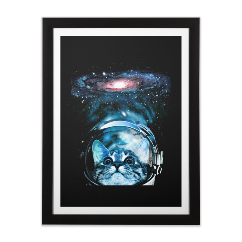 Cosmos Cat V2 Home Framed Fine Art Print by clingcling's Artist Shop