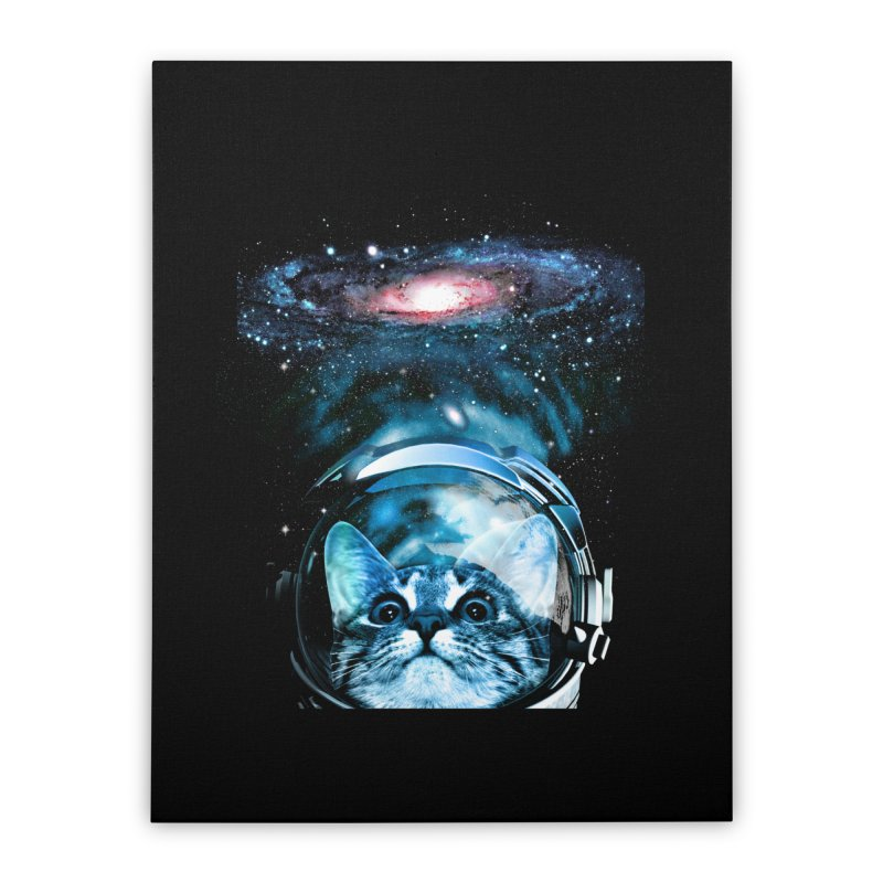 Cosmos Cat V2 Home Stretched Canvas by clingcling's Artist Shop