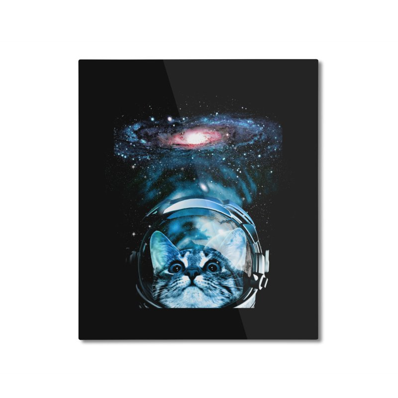 Cosmos Cat V2 Home Mounted Aluminum Print by clingcling's Artist Shop