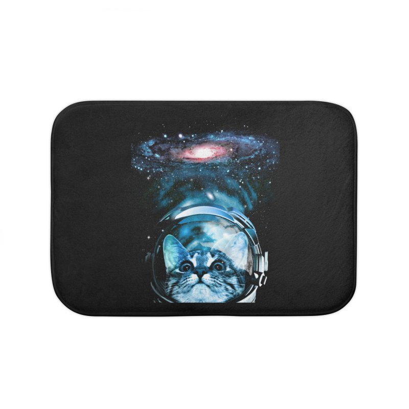 Cosmos Cat V2 Home Bath Mat by clingcling's Artist Shop