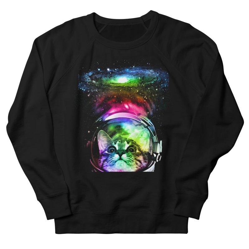 Cosmos Cat Men's Sweatshirt by clingcling's Artist Shop