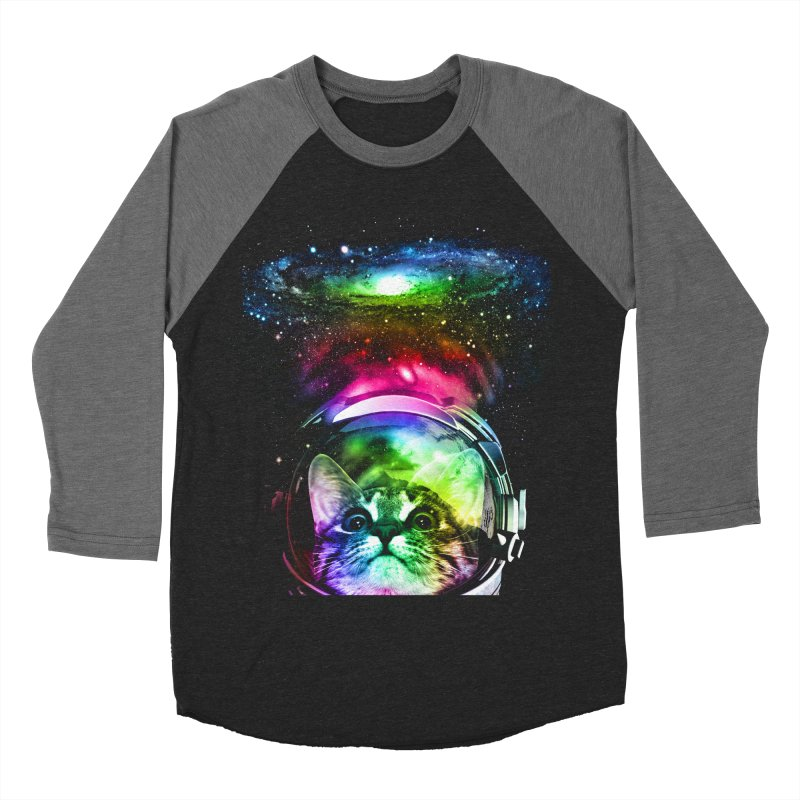 Cosmos Cat Men's Baseball Triblend T-Shirt by clingcling's Artist Shop