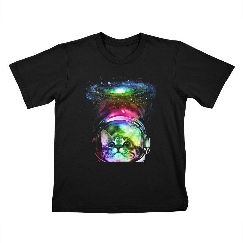 Cosmos Cat Kids T-Shirt by clingcling's Artist Shop