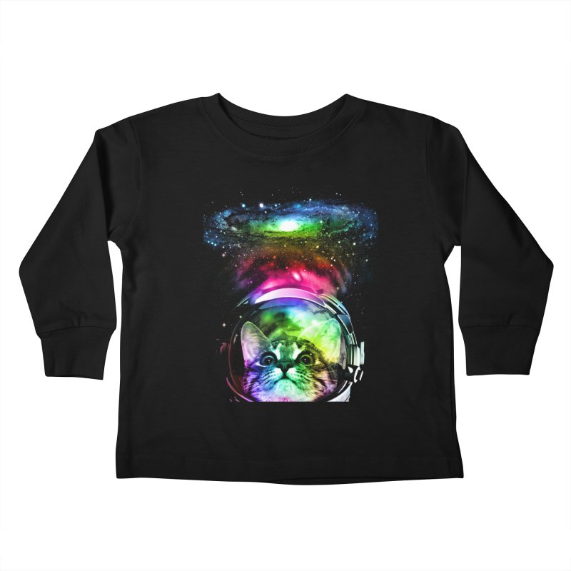 Cosmos Cat Kids Toddler Longsleeve T-Shirt by clingcling's Artist Shop
