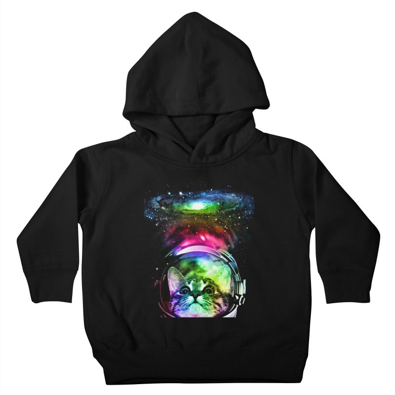 Cosmos Cat Kids Toddler Pullover Hoody by clingcling's Artist Shop
