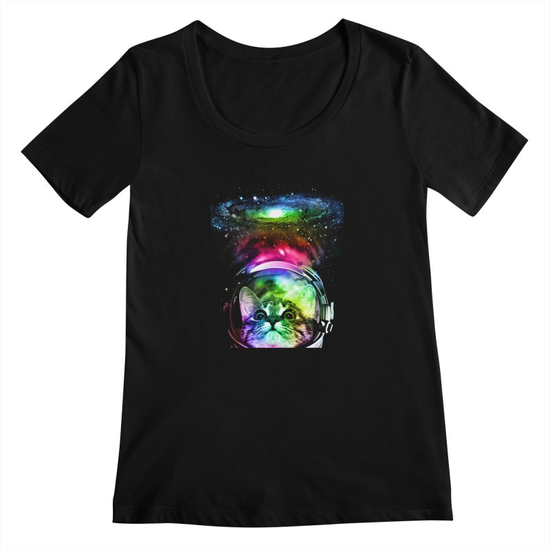 Cosmos Cat Women's Scoopneck by clingcling's Artist Shop