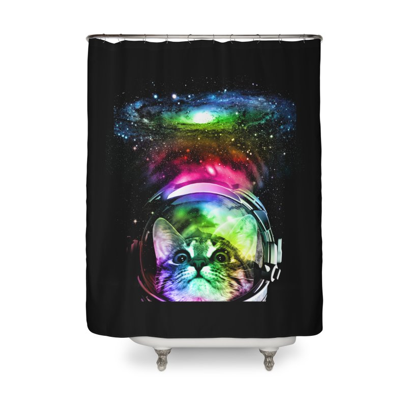Cosmos Cat Home Shower Curtain by clingcling's Artist Shop