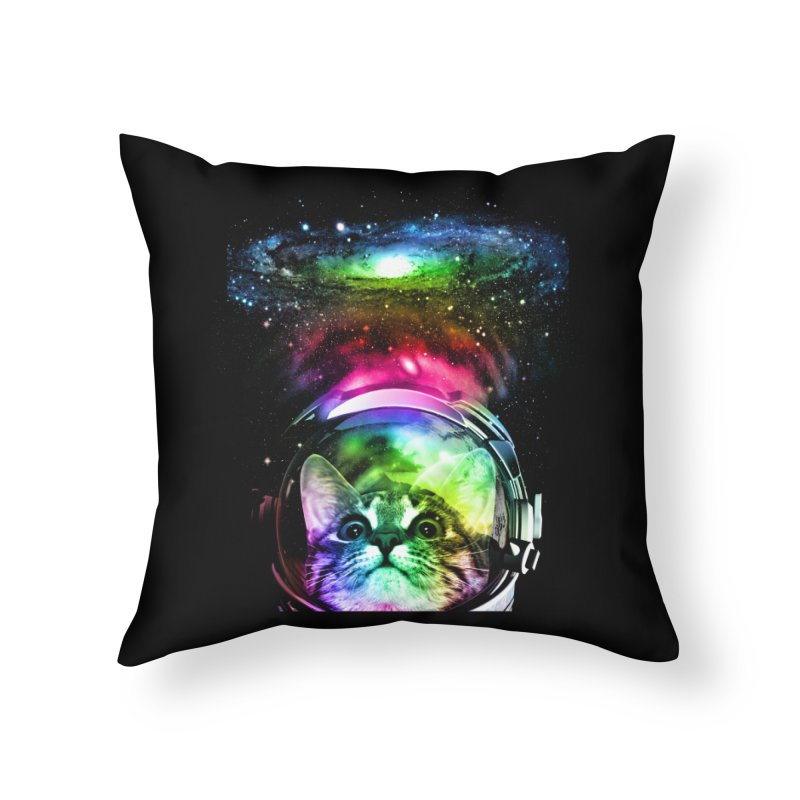 Cosmos Cat Home Throw Pillow by clingcling's Artist Shop