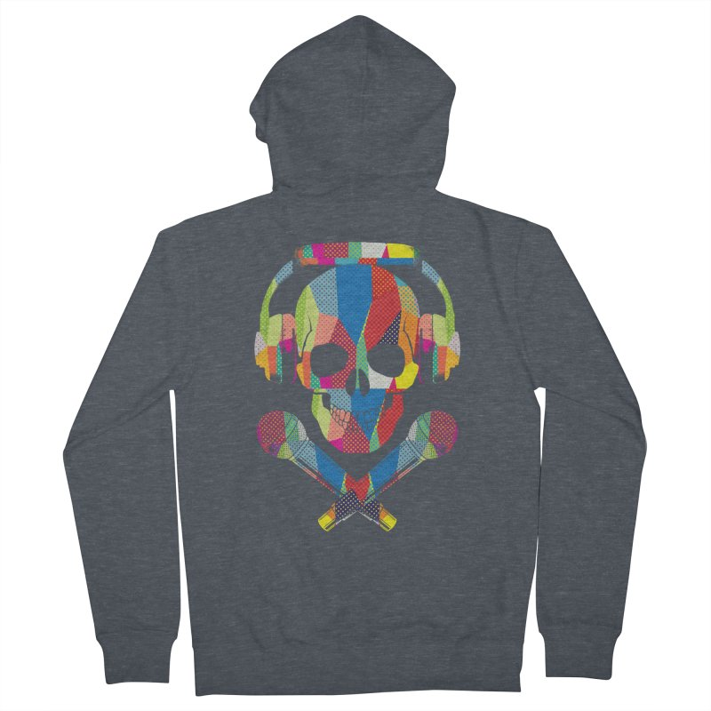 Retro Skull Women's French Terry Zip-Up Hoody by clingcling's Artist Shop