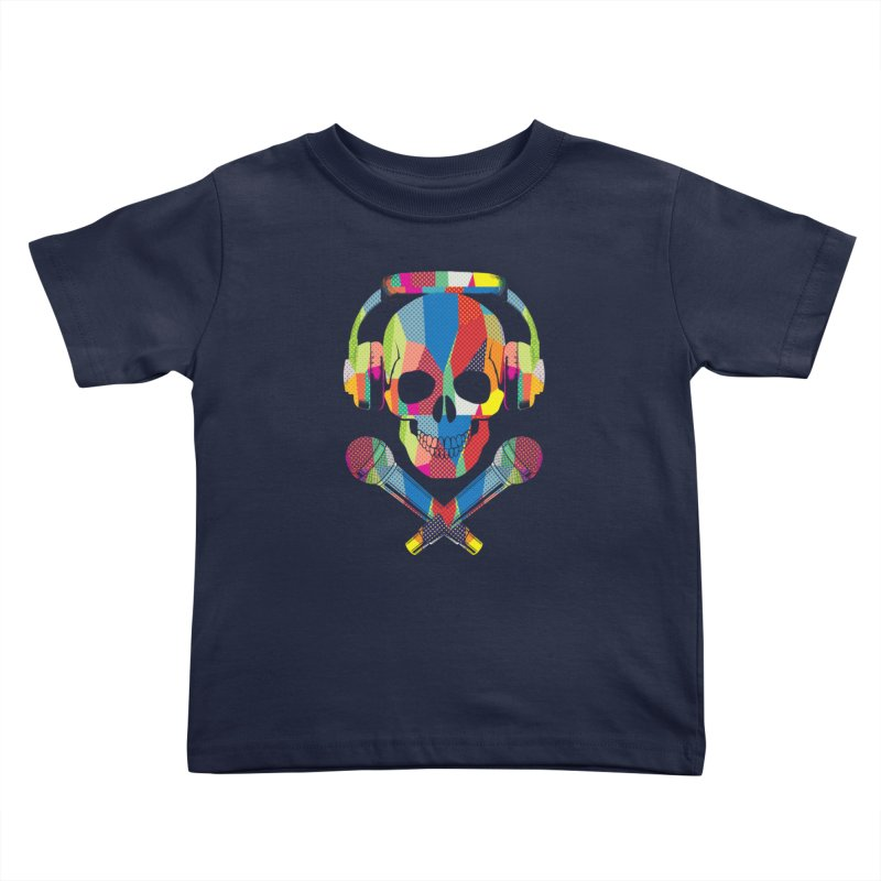 Retro Skull Kids Toddler T-Shirt by clingcling's Artist Shop