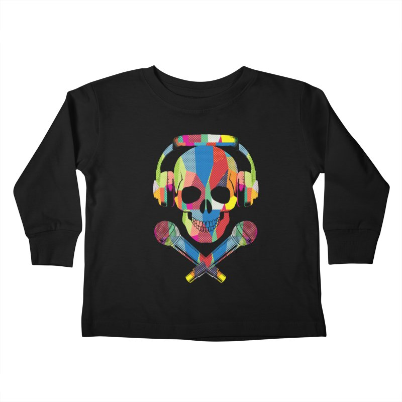 Retro Skull Kids Toddler Longsleeve T-Shirt by clingcling's Artist Shop