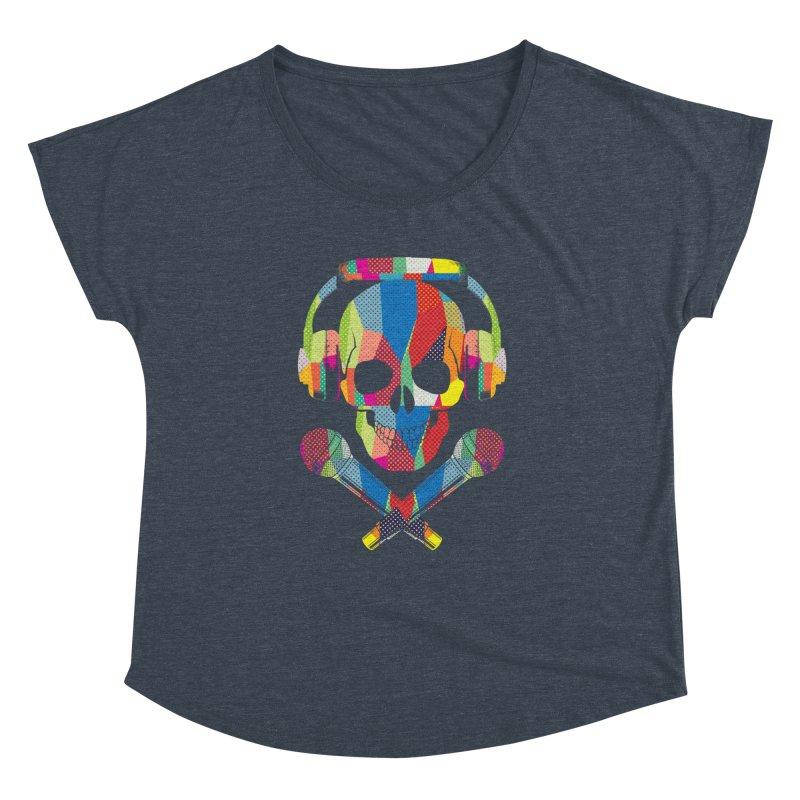Retro Skull Women's Dolman Scoop Neck by clingcling's Artist Shop