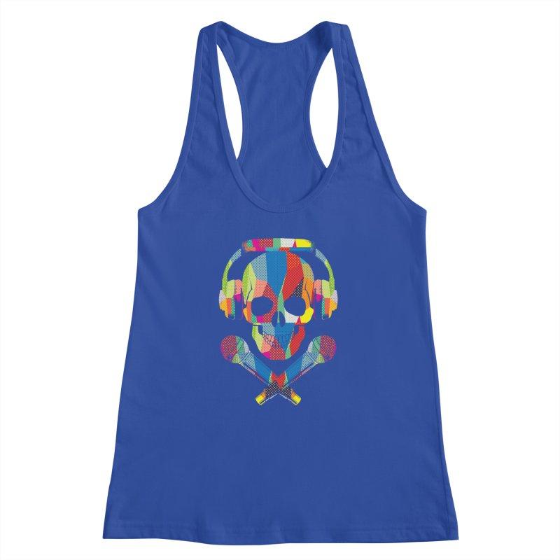 Retro Skull Women's Racerback Tank by clingcling's Artist Shop
