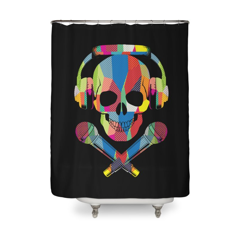 Retro Skull Home Shower Curtain by clingcling's Artist Shop