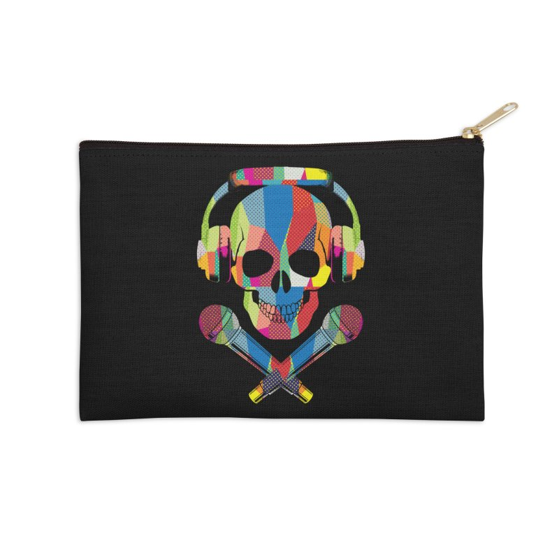 Retro Skull Accessories Zip Pouch by clingcling's Artist Shop