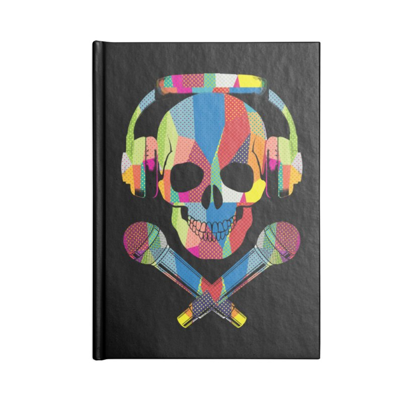 Retro Skull Accessories Blank Journal Notebook by clingcling's Artist Shop
