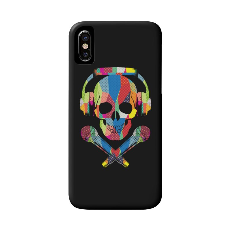 Retro Skull Accessories Phone Case by clingcling's Artist Shop