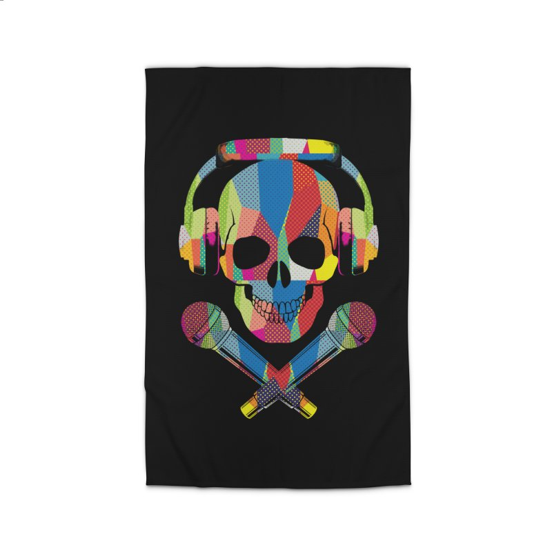 Retro Skull Home Rug by clingcling's Artist Shop