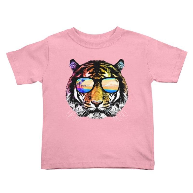 Summer Tiger Kids Toddler T-Shirt by clingcling's Artist Shop