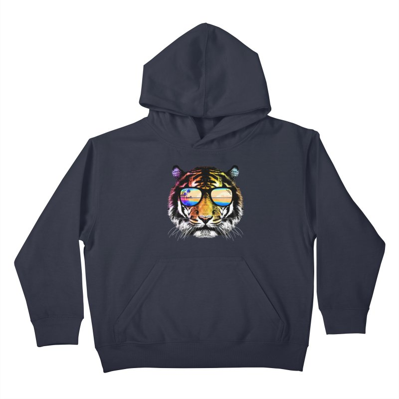 Summer Tiger Kids Pullover Hoody by clingcling's Artist Shop