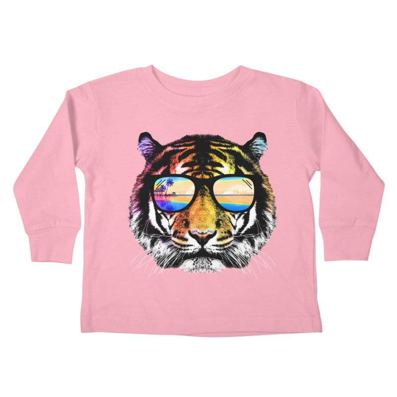 Summer Tiger Kids Toddler Longsleeve T-Shirt by clingcling's Artist Shop